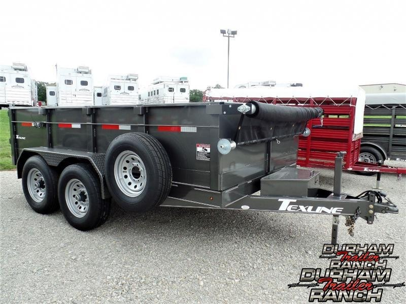 2019 TexLine 12 ft BP Dump Dump Trailer