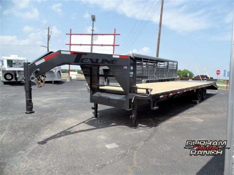 2020 TexLine 24+5 ft. Flatbed Trailer w/ Dovetail Flatbed Trailer