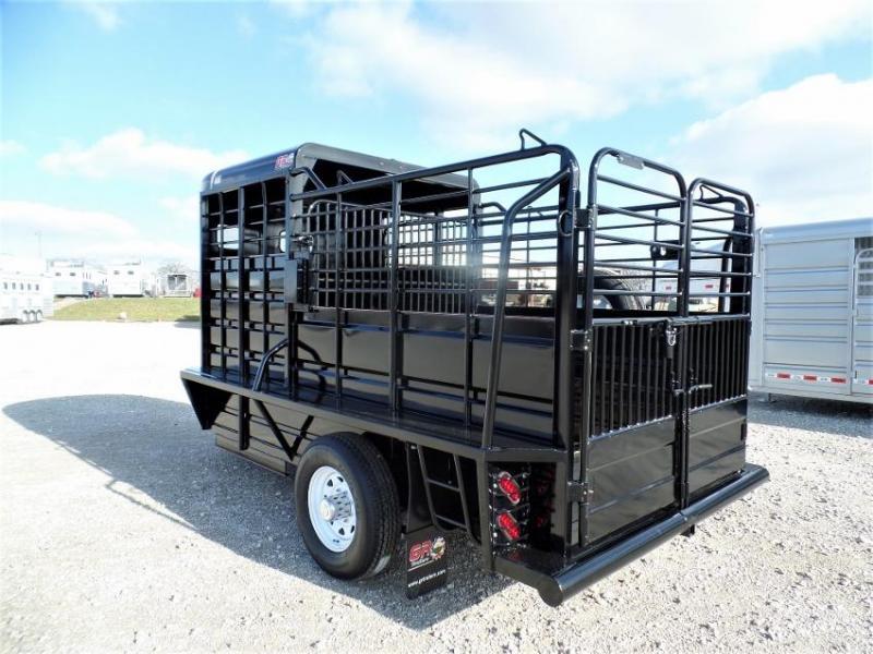 2020 GR Trailers 14' BP Livestock Trailer w/ Half-Top Livestock Trailer