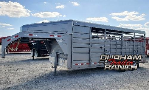 2020 GR Trailers 20ft Gooseneck Stock Trailer w/ Nose Livestock Trailer