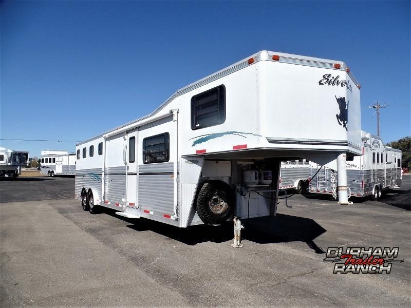 2002 Silver Lite 4H w/ 10ft Short Wall Horse Trailer