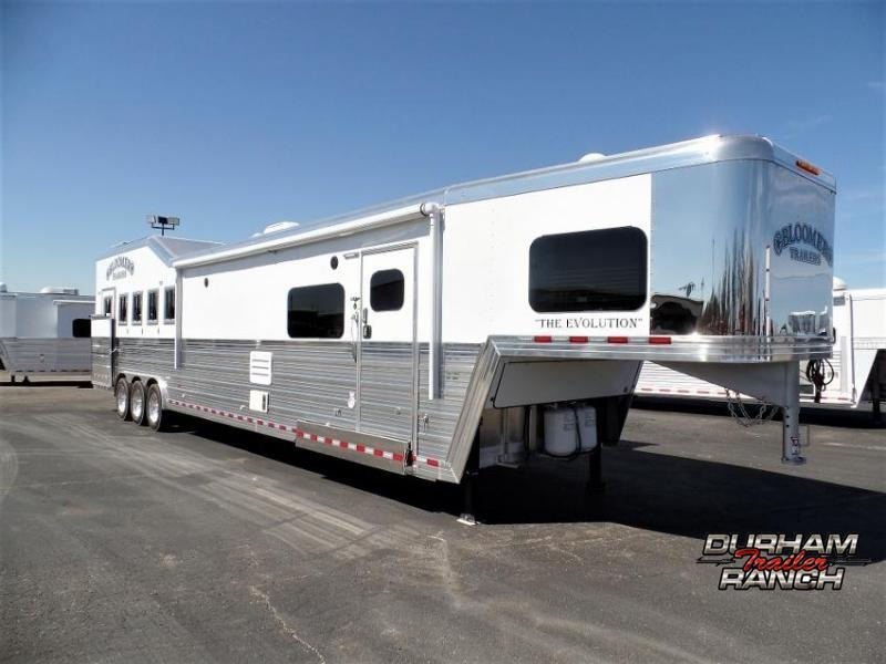 "2020 Bloomer 5Horse Trailer w/ 17'6"" SW & 6' Hyd. Slide Horse Trailer"