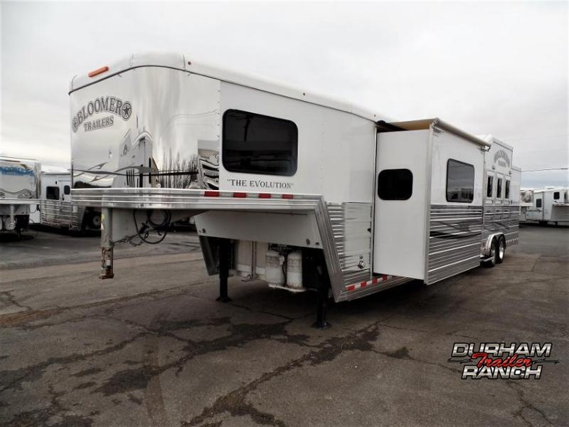 "2012 Bloomer 4Horse w/ 16'6"" Short Wall & 7' Hyd. Slide Horse Trailer"