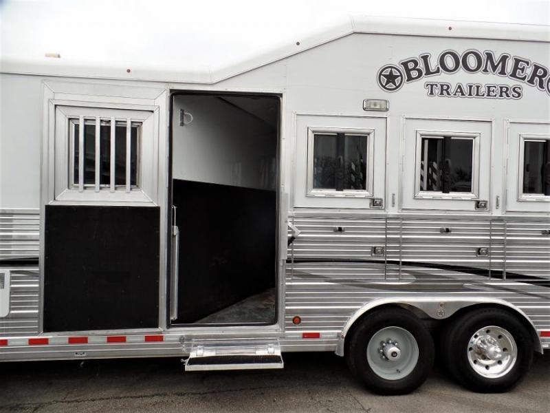 "2012 Bloomer 4Horse w/ 16'6"" Short Wall & 7' Hyd. Slide Horse Trailer"