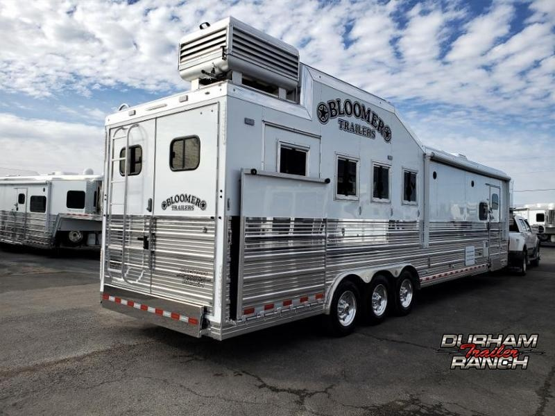 """2020 Bloomer 4Horse PC Load w/ 14'9"""" SW and 6' Hyd. Slide Out Horse Trailer"""