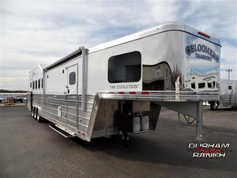 2020 Bloomer 5H PC Load w/ 12.8ft Short Wall Horse Trailer Horse Trailer