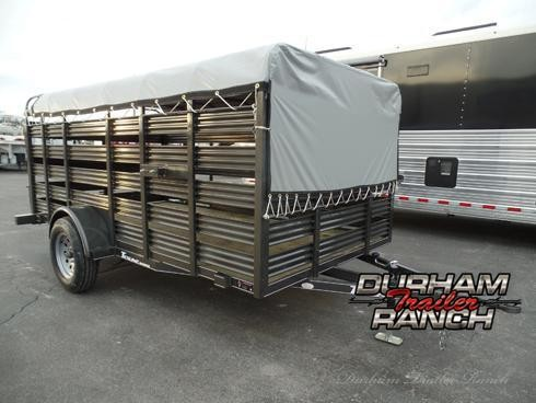 2019 Texline 6x12 Mini Stock Livestock Trailer