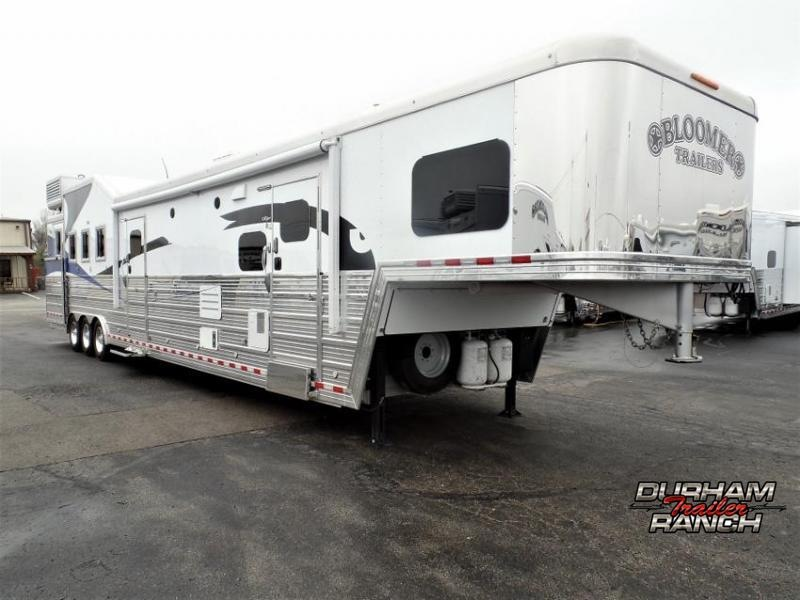 "2016 Bloomer 4Horse w/ 19'6"" Short Wall LQ & 6' Hyd. Slide Horse Trailer"
