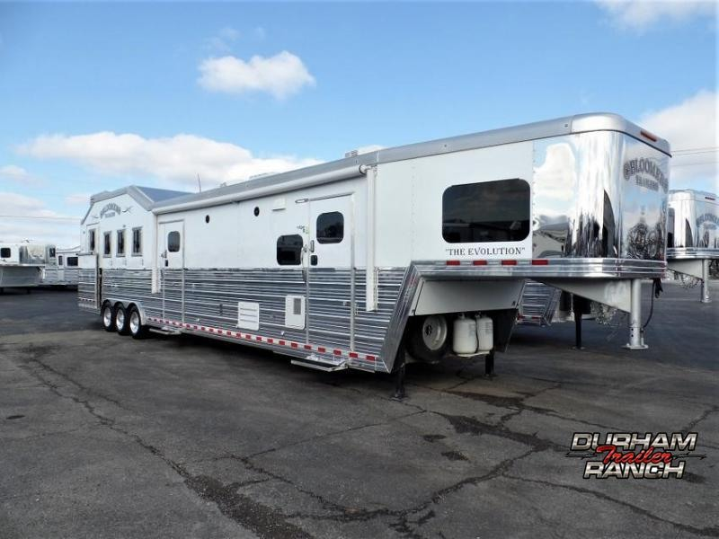 "2017 Bloomer 4Horse w/ 19'6"" SW & 6' Hyd. Slide Out Horse Trailer"