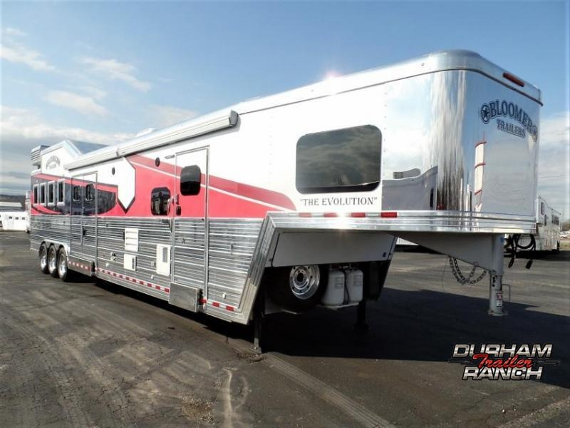 2019 Bloomer 4H Trailer w/ 20' Short Wall LQ & 6' Hyd Slide Horse Trailer