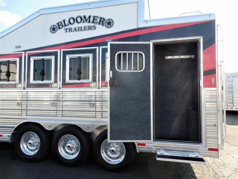 2019 Bloomer 4H Trailer w/ 20' Short Wall LQ & 6' Hyd Slide Horse Trailer
