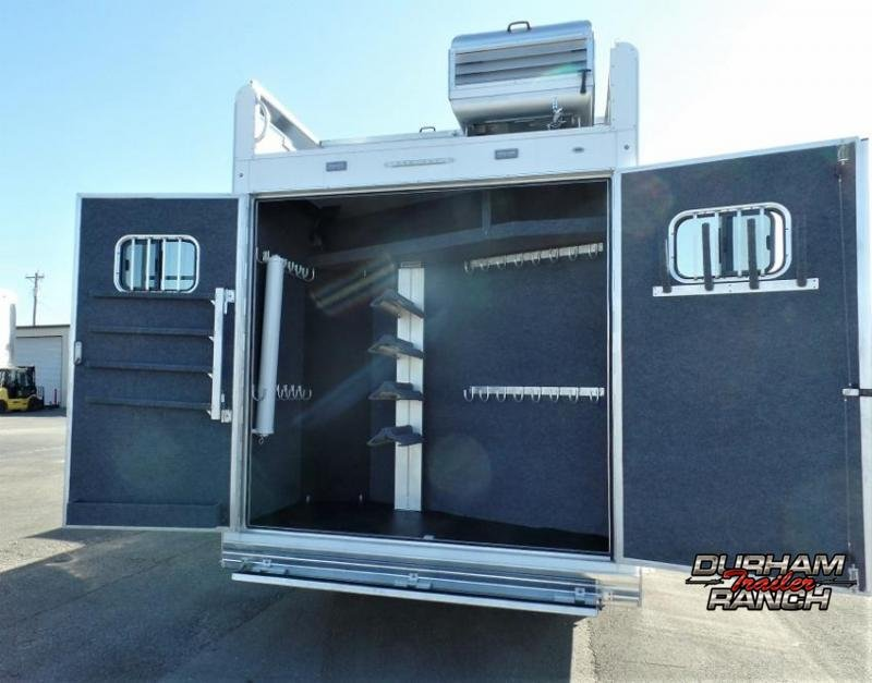 """2020 Bloomer 4H w/ 17'3"""" SW and 9' Hyd. Slide Horse Trailer"""