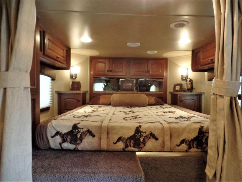 2013 Bison Stratus 3H w/ 17' SW & 12' Electric Slide Horse Trailer