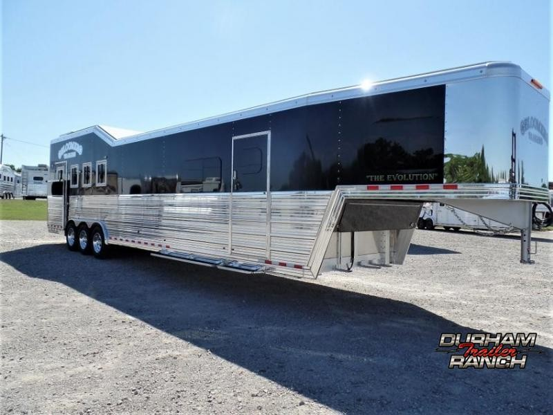 2021 Bloomer 4H Shell w/ Customizable 18' LQ and 10' Hyd. Slide Horse Trailer