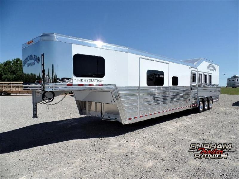 2021 Bloomer 4H Shell w/ Customizable 17' LQ and 6' Hyd. Slide Horse Trailer