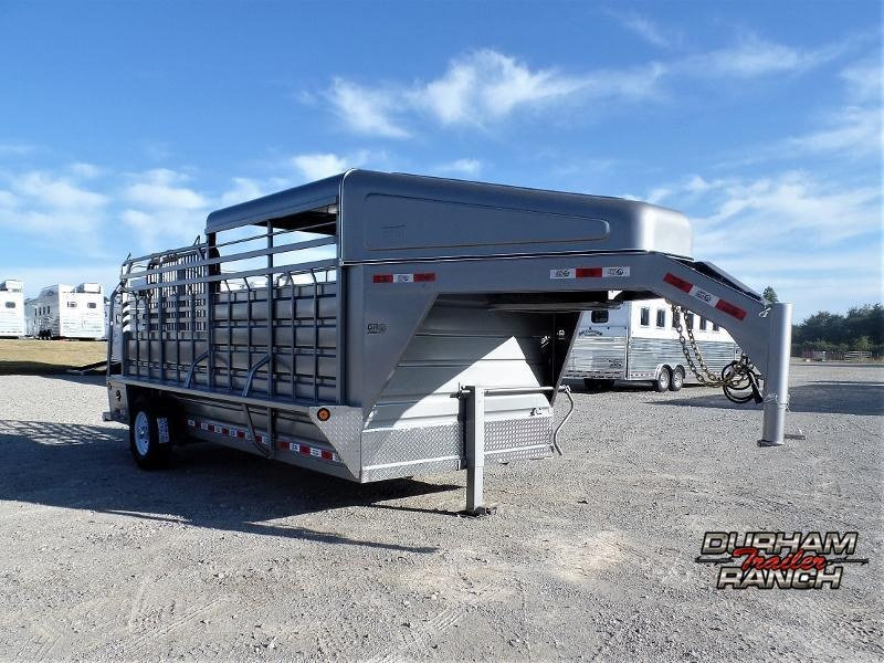 2020 GR Trailers 6.5ft x 16ft GN Stock Trailer w/ Halftop Livestock Trailer