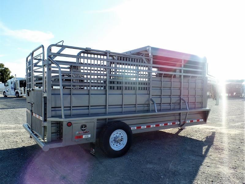2020 GR Trailers 6.5ft x 16ft GN Stock Trailer w/ Halftop Livestock Trailer