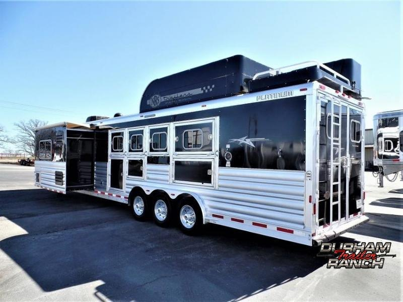 2017 Platinum Coach 4H PC Load w/ 16' Short Wall & 12' Electric Slide Horse Trailer