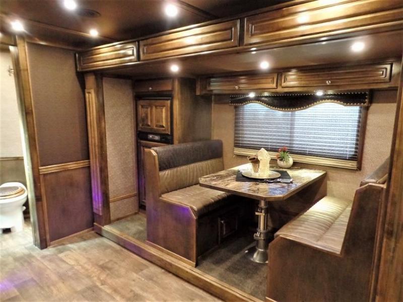 2017 Platinum Coach 4H PC Load w/ 16' Short Wall & 12' Electric Slide Horse Trailer