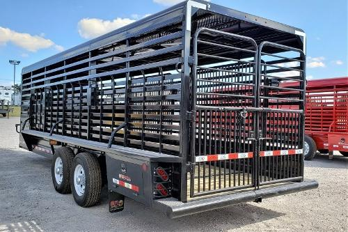 2020 GR Trailers 24ft Gooseneck Stock Trailer Livestock Trailer