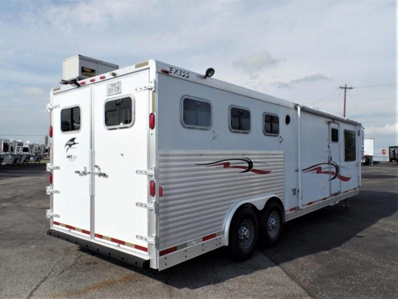 2002 Exiss Trailers 3H w/ 14' Short Wall LQ Horse Trailer