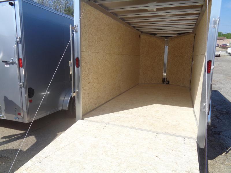 2019 Mission EZ Hauler 7x16 Cargo Trailer with Ramp Door Enclosed Cargo Trailer