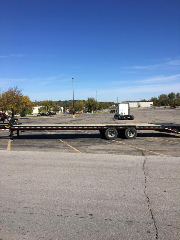 2018 Doolittle Trailer Mfg 355 Brute Force Deckover Bumper Pull 24000 GVWR Equipment Trailer