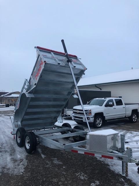 2020 N&N 6X12 10K TELECSCOPIC LIFT DUMP TRAILER WITH RAMPS AND TARP KIT