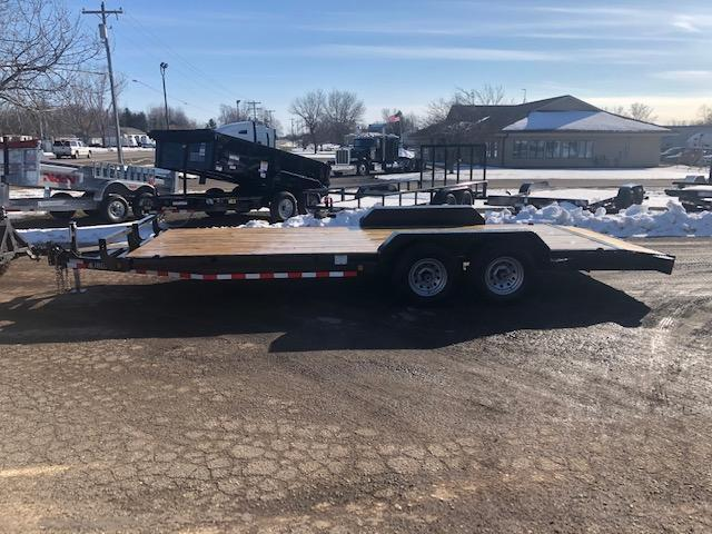2020 IRONBULL 7X20 10K EQUIPMENT TRAILER WITH SLIDE IN RAMPS