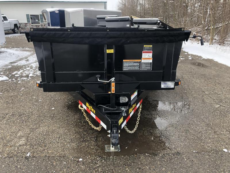 2020 BIG TEX 7X12 14K SCISSOR LIFT DUMP TRAILER WITH RAMPS AND TARP KIT