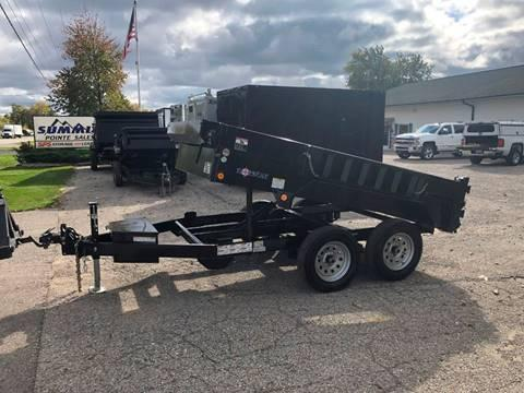 2020 IRONBULL/NORSTAR 5X10 7K DUMP TRAILER WITH RAMPS AND TARP