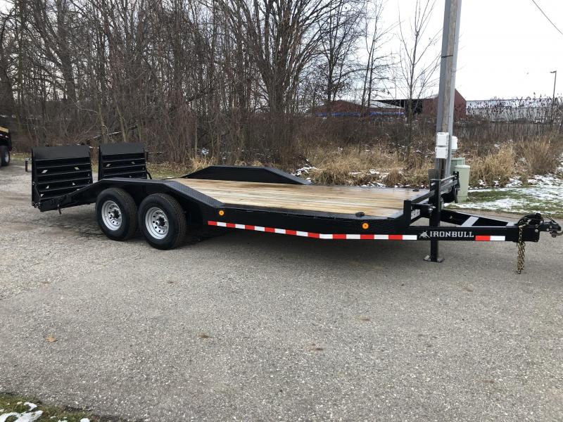 2020 IRONBULL 8.5X20 SUPERWIDE 14K EQUIPMENT TRAILER WITH MONSTER RAMPS