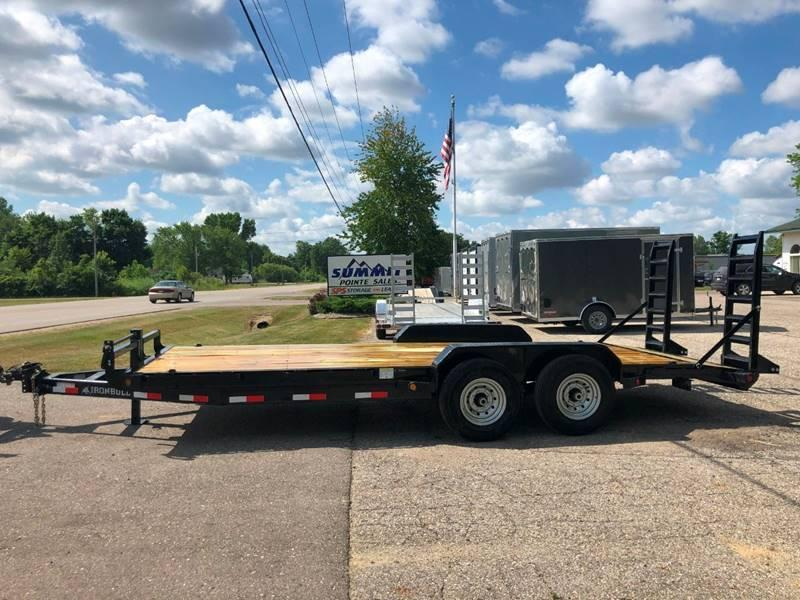 2020 IRONBULL 7X20 14K EQUIPMENT TRAILER WITH FOLD DOWN RAMPS