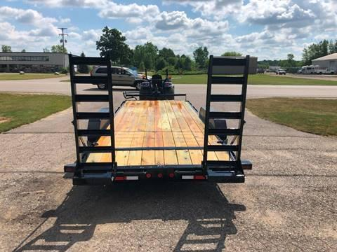 2019 IRONBULL 7X20 14K EQUIPMENT TRAILER WITH FOLD DOWN RAMPS