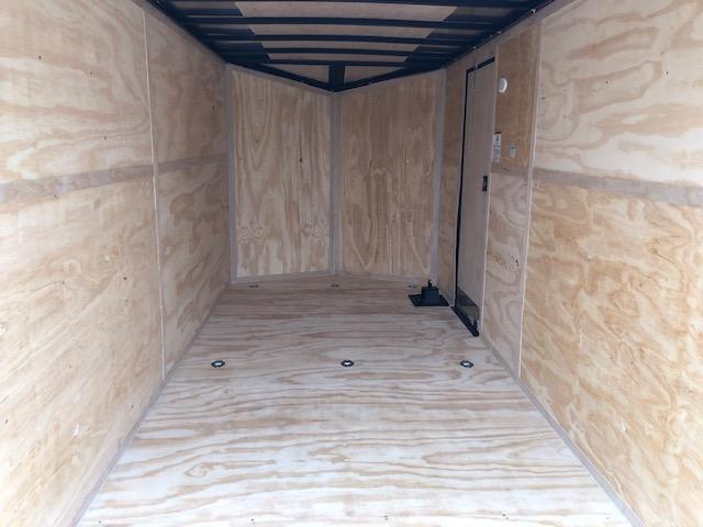 "2020 Cargo Mate 7X16 VNOSE RAMP DOOR 12"" EXTRA HEIGHT UTV / BLACK OUT PKG"