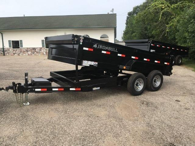 2020 IRONBULL 7X14 14K SCISSOR LIFT DUMP TRAILER WITH RAMPS AND TARP KIT