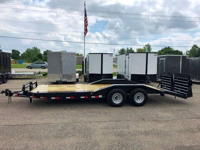 2020 IRONBULL 8.5X22 SUPERWIDE 14K EQUIPMENT TRAILER WITH MONSTER RAMPS