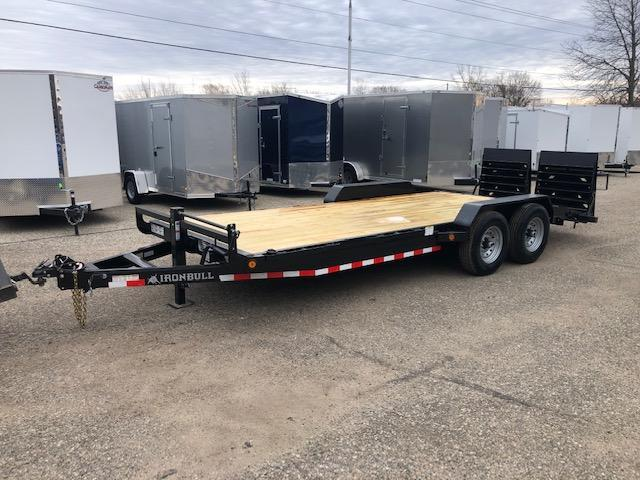 2020 IRONBULL 7X20 14K EQUIPMENT TRAILER WITH FOLD MONSTER RAMPS
