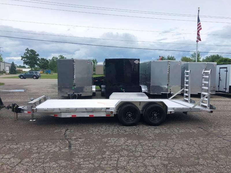 2019 IRONBULL 7X20 14K ALL ALUMINUM EQUIPMENT TRAILER WITH FOLD DOWN RAMPS