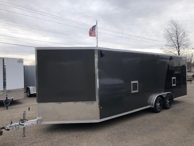 2020 HIGH COUNTRY 7.5X27 DRIVE ON DRIVE OFF ALL ALUMINUM SNOWMOBILE TRAILER