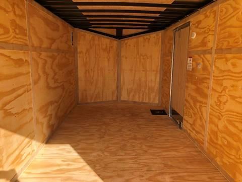 2020 Cargo Mate 7X16 VNOSE DOUBLE DOOR LADDER RACKS CONTRACTOR PKG