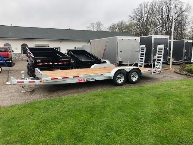 2020 N&N 7X22 14K EQUIPMENT TRAILER WITH FOLD DOWN RAMPS