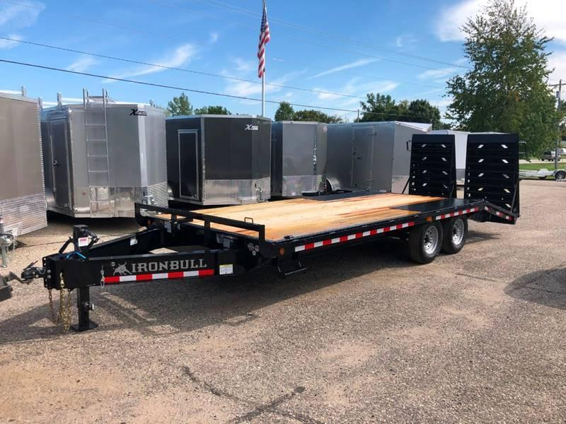 2020 IRONBULL 8.5X22 DECKOVER EQUIPMENT TRAILER WITH MONSTER RAMPS 14K