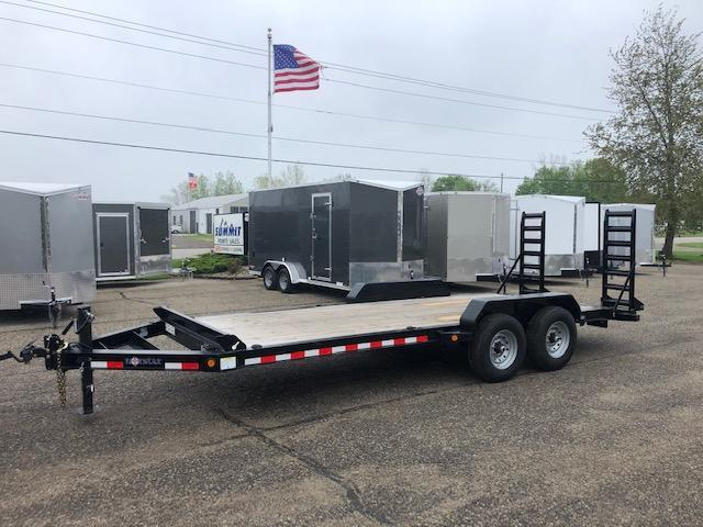 2020 NORSTAR 7X20 14K EQUIPMENT TRAILER WITH FOLD MONSTER RAMPS