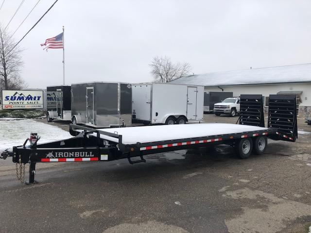 2020 IRONBULL 8.5X25 DECKOVER EQUIPMENT TRAILER WITH MONSTER RAMPS 14K