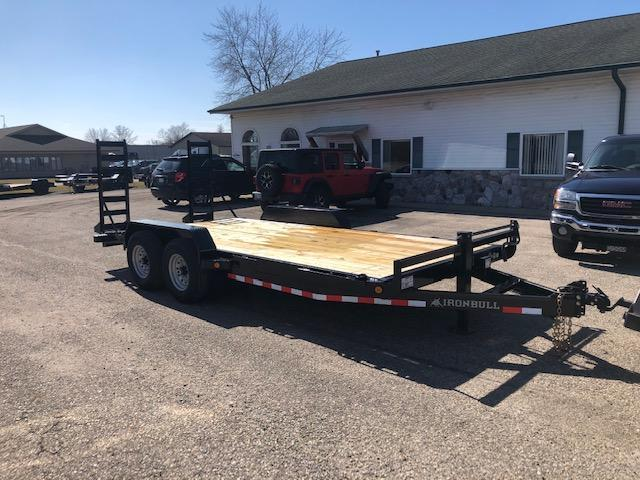 2020 IRONBULL 7X18 14K EQUIPMENT TRAILER WITH FOLD DOWN RAMPS