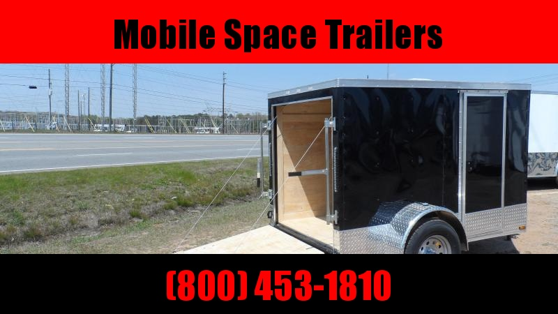 2019 Quality Cargo 5x8 Quest ramp door Black Enclosed Cargo Trailer