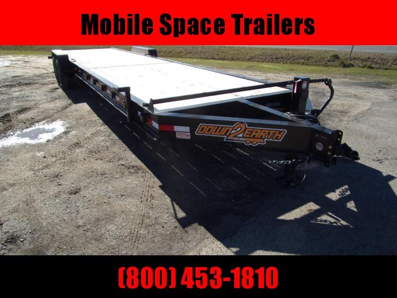 "Down 2 Earth Trailers 34 2 Car Hauler wood deck 10"" I beam"