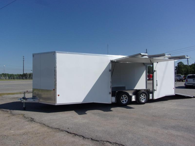 2019 Mission 8.5x24 Wh car hauler spread axle ramp door Elite Ecsape door Enclosed Cargo Trailer