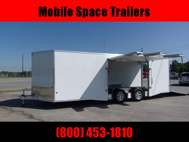Mission 8.5x24 Wh car hauler spread axle ramp door Elite Ecsape door Enclosed Cargo Trailer